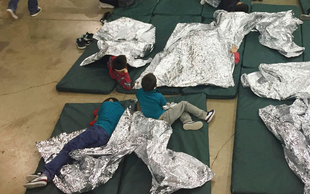 Niños migrantes detenidos