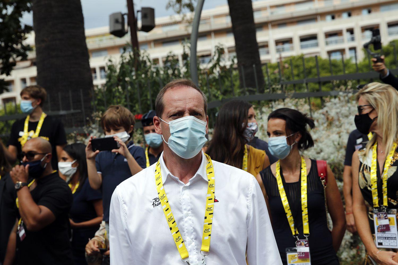 Christian Prudhomme, exciclista y actual director del Tour de Francia, dio positivo a una prueba de Covid-19. (AP)