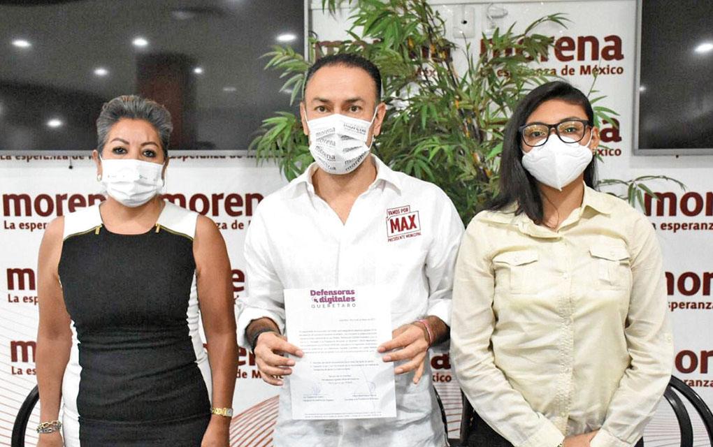 Firma Arturo Maximiliano contra la violencia digital de género