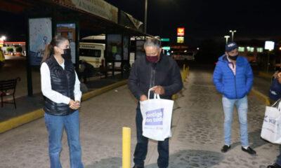 Marcia Solórzano cierra campaña desde temprana hora